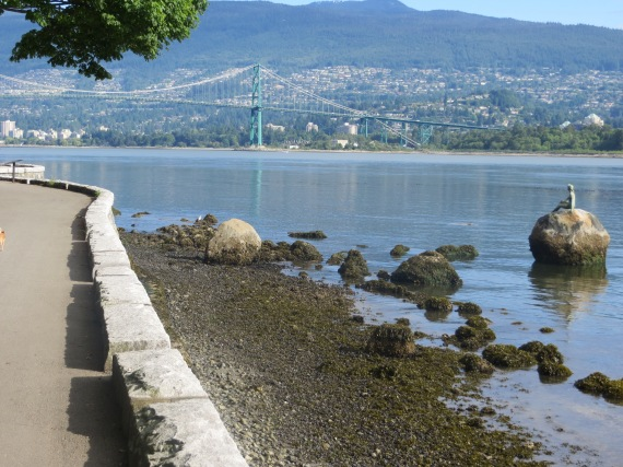 Lions Gate Bridge and what's on that rock?